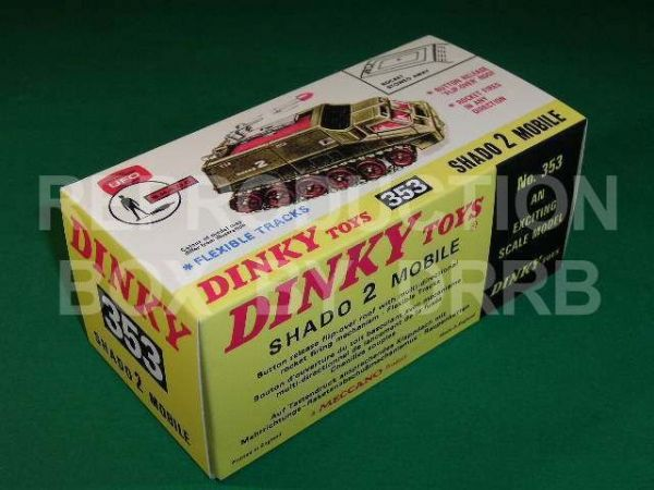 Dinky #353 S.H.A.D.O. 2 Mobile - Reproduction Box